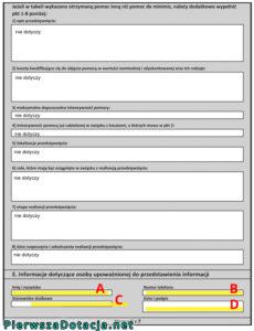formularz informacji przedstawianych przy ubieganiu się o pomoc de minimis